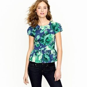J.Crew Collection floral peplum top- size 0